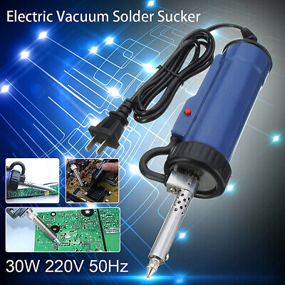 30W 220V 50Hz Electric Vacuum Solder Sucker //Desoldering Pump //Tool Repairing UK