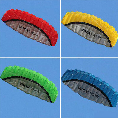 250cm Huge Frameless Parafoil Stunt Kite Twin Dual Line Beach Sport Toy 1424HC