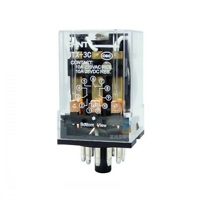 1Pcs 24/220V Miniature High-power 11 Pin LED Electromagnetic Relay 3NO 3NC