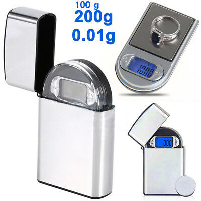 "0.01g x 100/200g Gram Mini Digital Pocket ""lighter"" Scale Jewelry Diamond Weight"