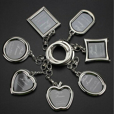 Personalized Key Holder Couple Picture Frame Photo Key Ring Love Key Chain