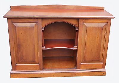 A Victorian Walnut Sideboard / Bookcase