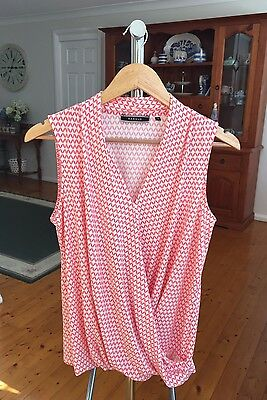 Basque Womens Size 12 Dressy Top.
