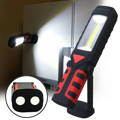 Rechargeable 3W COB 150 Lumen LED Flashlight Magnetic Work Light Collapsible