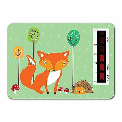 Baby Fox and Hedgehog Nursery Room Safety Temperature Thermometer