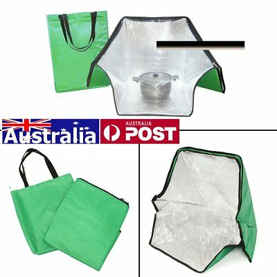AU Solar Oven Green Portable Carry Bag Cooker Sun Cooking Outdoor Camping Travel