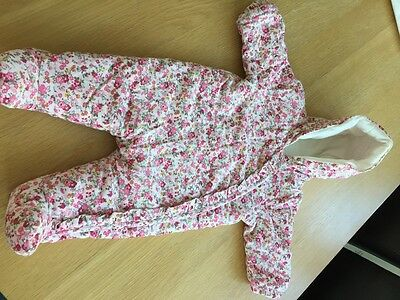 mothercare baby girl pramsuit aged 0-3 months