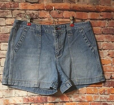 Tommy Hilfiger Women's SZ 8 Flat Front Distressed Jeans Shorts Cotton Casual
