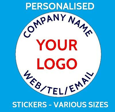 Personalised Business Name Stickers Company Promotion Logo Badge Address