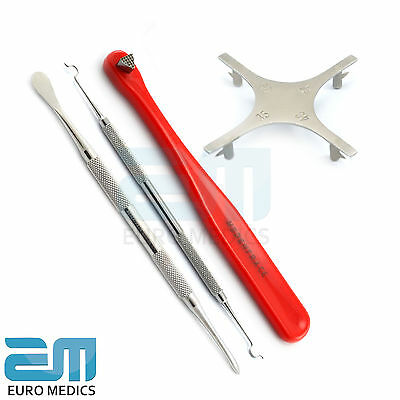 Dental Periosteal Molt 9 Dentist Star Guage Orthodontic Tools Red Bite Stick New