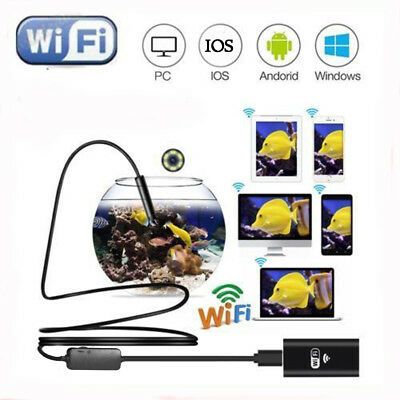 LED 8mm WIFI Endoscope Wireless Borescope Inspection Camera For iPhone Android