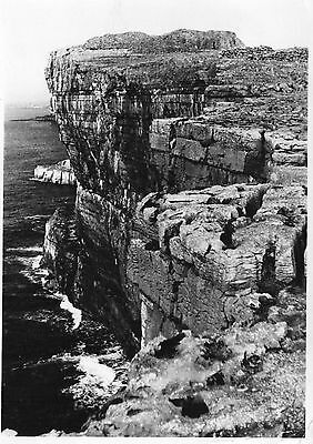 ARAN ISLES DUNAENGUS SEEN FROM CLIFFS GALWAY IRELAND RP POSTCARD POSTED in 1959