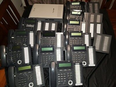 Aria 24IP with 12 x 24 Button Telephones & 5 x DSS Consoles