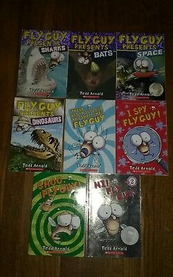 Fly guy book lot of 8 by Tedd Arnold softcover with pictures Fly Guy Presents