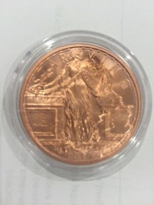 Zombuck Copper Coin Starving Liberty