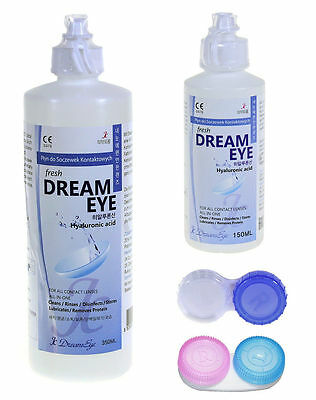 5x 350ml Kombilösung DreamEye All-in-One-Pflegemittel für weiche Kontaktlinsen