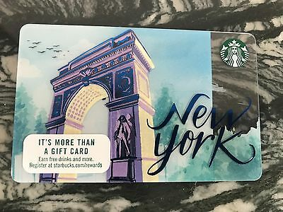 2017 STARBUCKS NYC New York City NYC Gift Card New