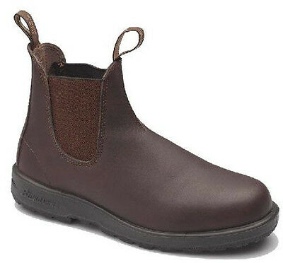 Blundstone Style 200 Chestnut Brown Premium Leather Heat Resistant Safety Boots
