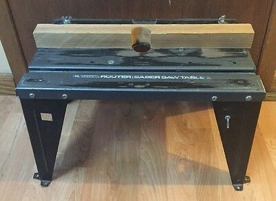 Vermont American Router Saber Saw Table Metal Construction Made In Usa