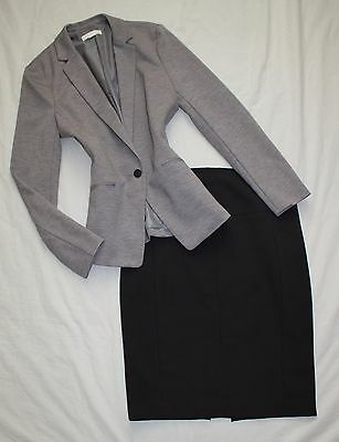 EXPRESS Size 6 Women's Skirt Suit Black Gray PERFECT!