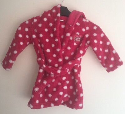 Minnie Mouse Hooded Dressing Gown (9-12 Months)
