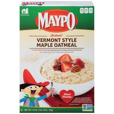 Maypo Vermont Style Maple Oatmeal Instant Hot Cereal, 19 oz 2 Pack