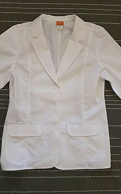OVERPRO by BARCO LARGE LADIES 2 Pocket Lab Coat Scrub Doctor Medical Jacket