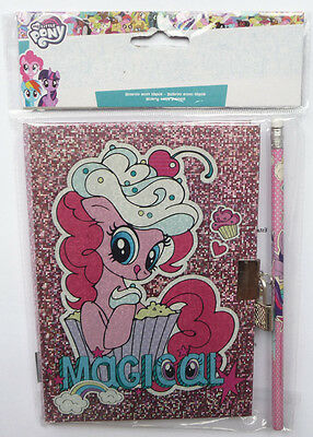 MY LITTLE PONY Secret Diary with Pencil Padlock Book Lockable Notebook NEW