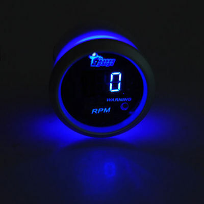 2 inch 52mm Black face blue led digital Car Motor Tacho Tachometer Gauge auto me