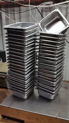 53 Steam buffet Table Pan 7 x 6-3/8 x 2-1/2 d Stainless Steel half third quarter
