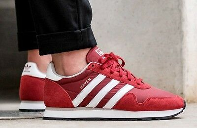 435eaced1a21 NEW ADIDAS ORIGINALS Haven Sneaker Suede Mens dark red sizes 9 10 ...