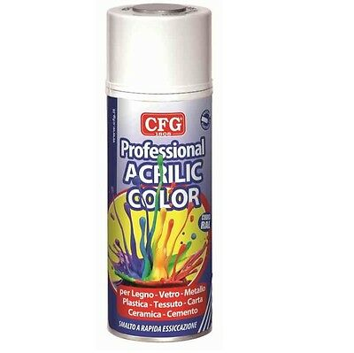SPRAY VERNICE ACRILICA PROFESSIONALE GRIGIO GRAFITE 400ml CFG RAL7024 SPRY