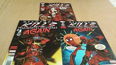 4 comics DEADPOOL KILLS THE MARVEL UNIVERSE AGAIN issues 1-4 NICE RUN 1ST PRINTS