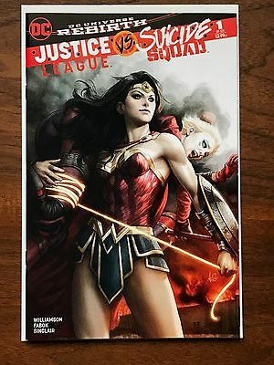 Justice League vs Suicide Squad #1 Artgerm Variant NM+ Wonder Woman