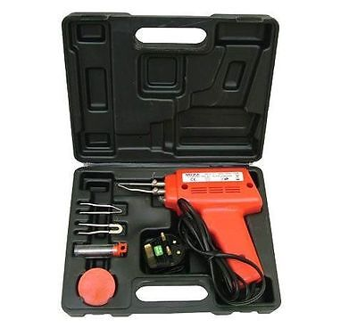100W Soldering Gun Kit With Tips, Wire, Paste And Carry Case 68446