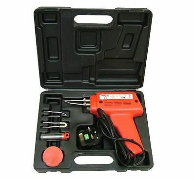 150W Soldering Gun Kit With Tips, Wire, Paste And Carry Case 68535
