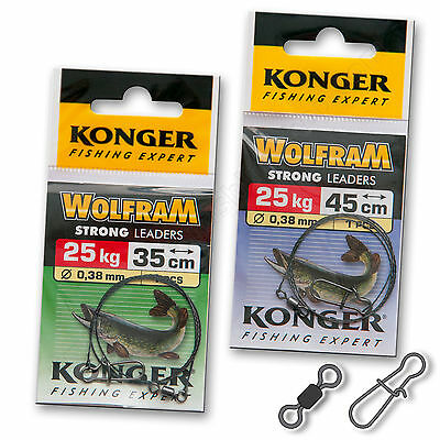 Wire Trace Leader 25kg Wolfram Strong Pike Catfish Sea Lure Fishing Tackle