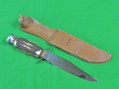 Vintage Japan Japanese MONARCH Original Bowie Hunting Knife w/ Sheath