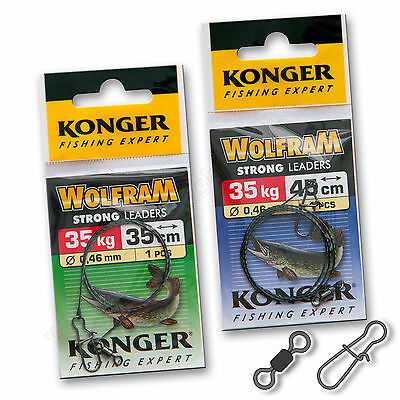 Wire Trace Leader 35kg Wolfram Strong Pike Catfish Sea Lure Fishing Tackle