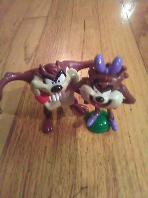 Vintage Warner Bros Looney Tunes Taz RARE Girlfriend She Devil pvc figures