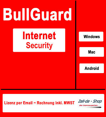 BullGuard Internet Security 2017  (1, 5 oder 10)  Windows, Mac & Android, ESD