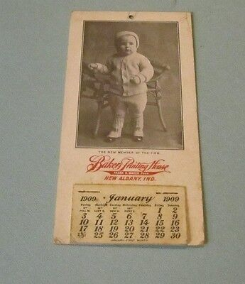 1909 Baker Printing House New Albany Indiana Advertising Calendar 12 Months Baby