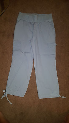 In Due Time light blue cropped cargo maternity pants size medium