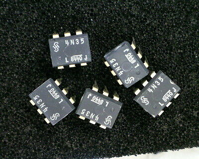 25 x Siemens 4N35 Optocoupler DC LED Input, Phototransistor Output , 6-Pin TH