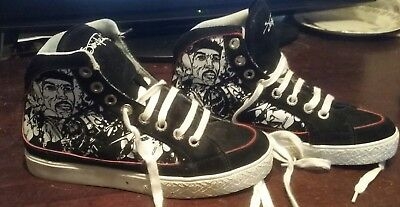 Jimi Hendrix authentic shoes flocked mural us size 7 limited edition rare htf