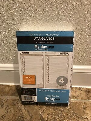 At-A-Glance Weekly 2018 Planner Refill 1 Page Per Day Size 4 New White Original