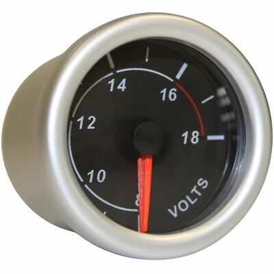 SAAS Autoline Gauge - Black Face, 52mm, Volt, SG71250