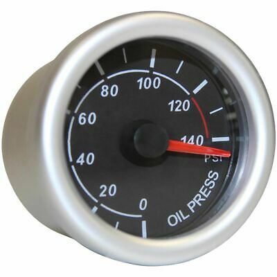 SAAS Autoline Gauge - Black Face, 52mm, Oil Pressure, SG71230