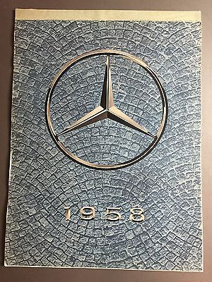 1958 Mercedes-Benz Factory Issued Calendar RARE!! Awesome L@@K