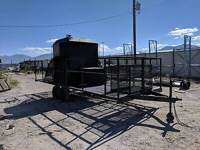 Industrial Smoker BBQ Trailer 1000lbs. CAP.